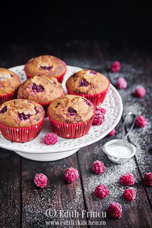 Muffins cu zmeura