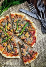 Pizza la tigaie cu leurda