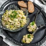 Salata de oua cu mazare si sunca