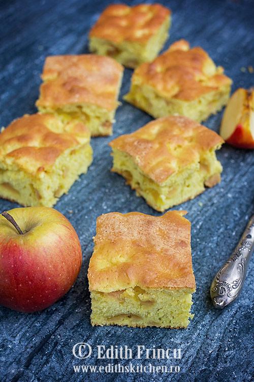 Prajitura pufoasa cu mere