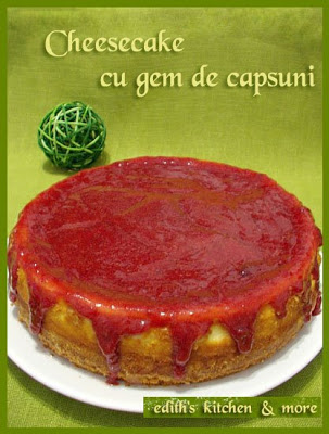 cheesecakecugemdecapsuni - CHEESECAKE CU GEM DE CAPSUNI