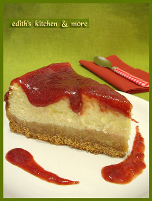 cheesecakefelie - CHEESECAKE CU GEM DE CAPSUNI