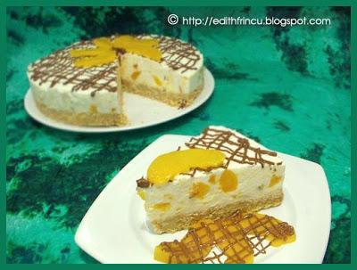 cheesecakelarece2 2 - CHEESECAKE CU PIERSICI LA RECE