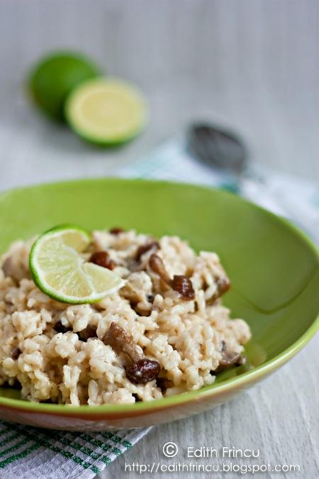risotto cu ciuperci de padure