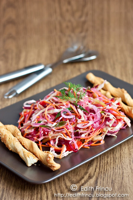 salata cu varza ridiche si sfecla - SALATA CU VARZA, RIDICHE SI SFECLA