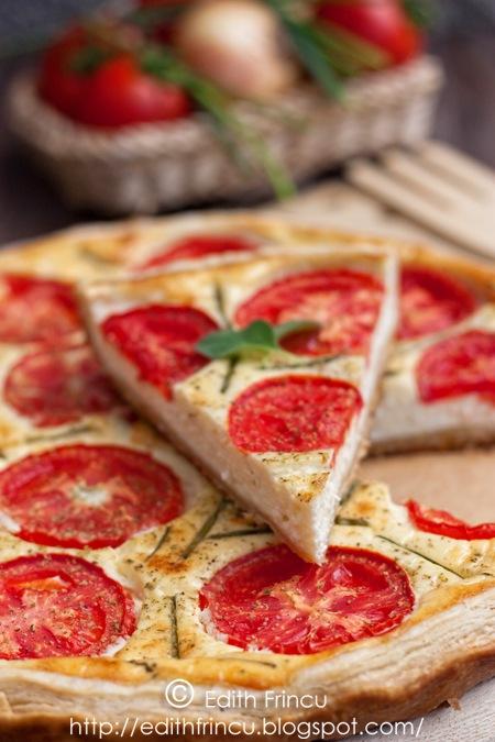 tarta cu branza si rosii 1