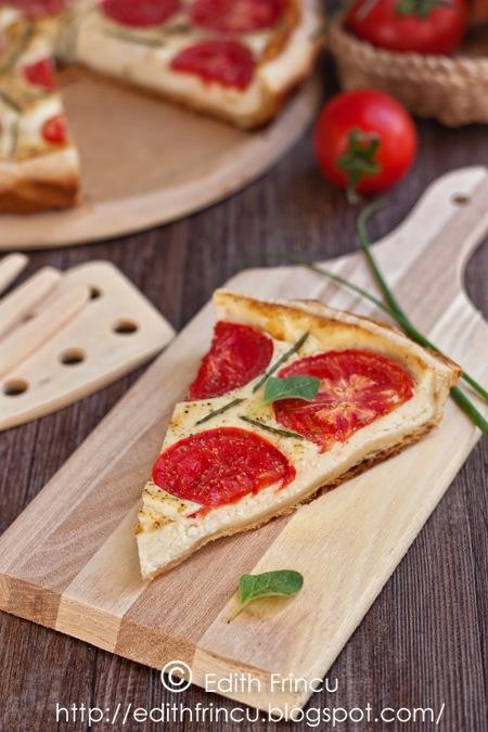 tarta cu branza si rosii_felie