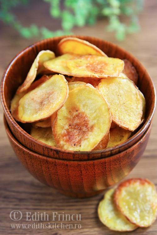 chipsuri de cartofi la cuptor 1