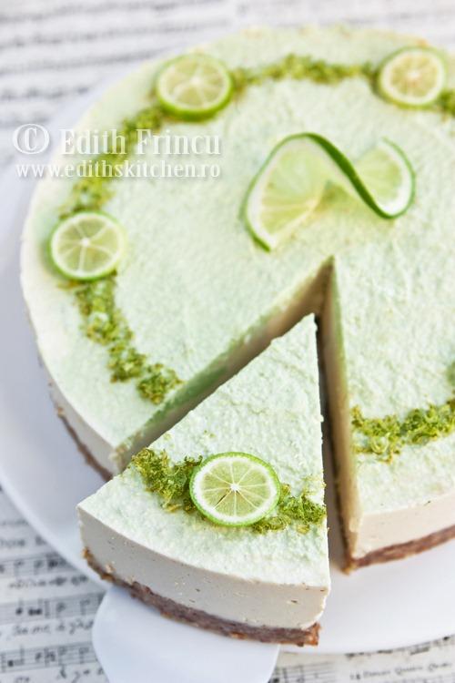 cheesecake raw cu lime