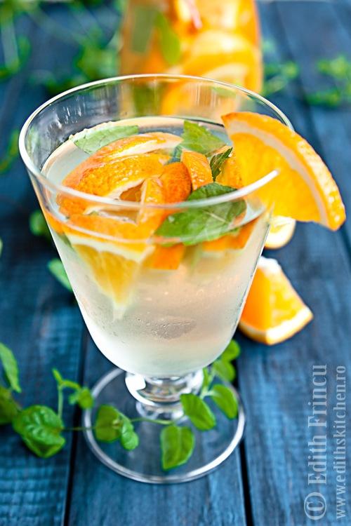 apa cu portocale