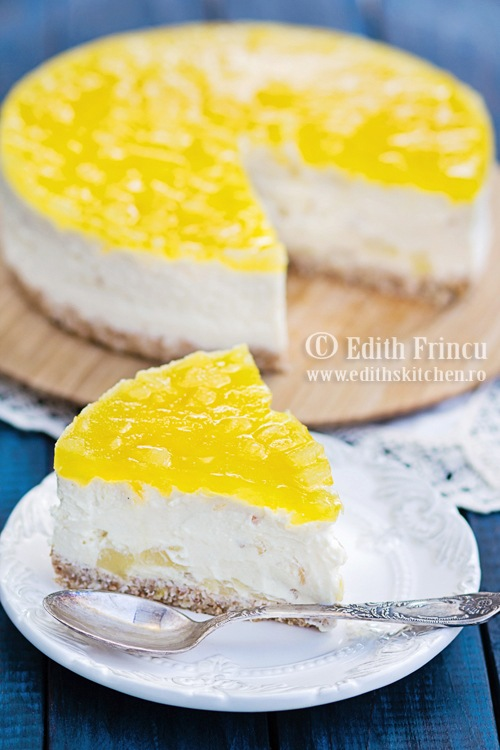cheesecakecuananas1 thumb6 1 - Cheesecake cu ananas