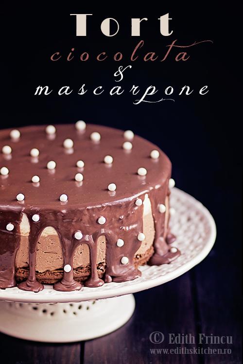 tort ciocolata 3 - Tort cu ciocolata si mascarpone