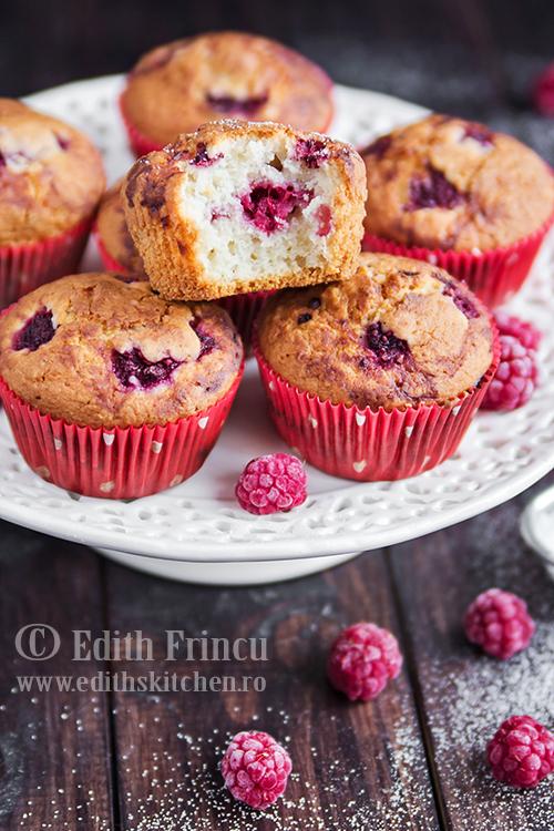 muffins cu zmeura 1