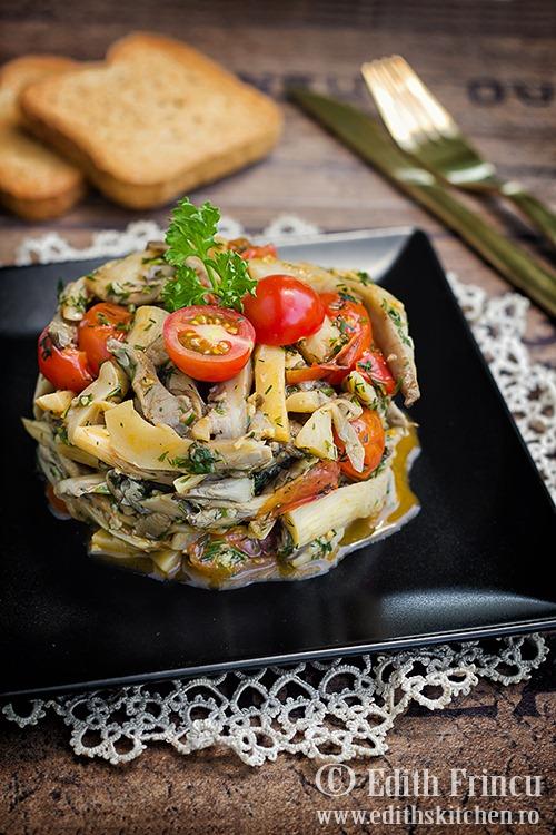salata calda de pleurotus