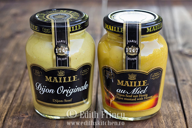 mustar maille - Chiftelute de somon