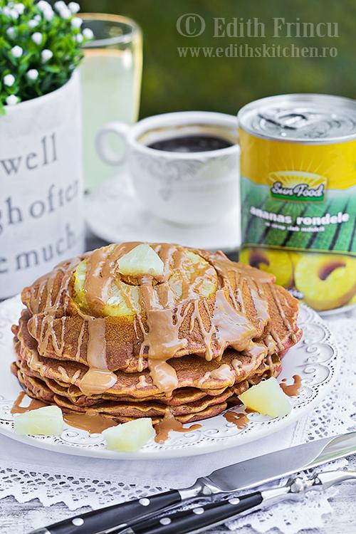 pancakes cu ananas 1