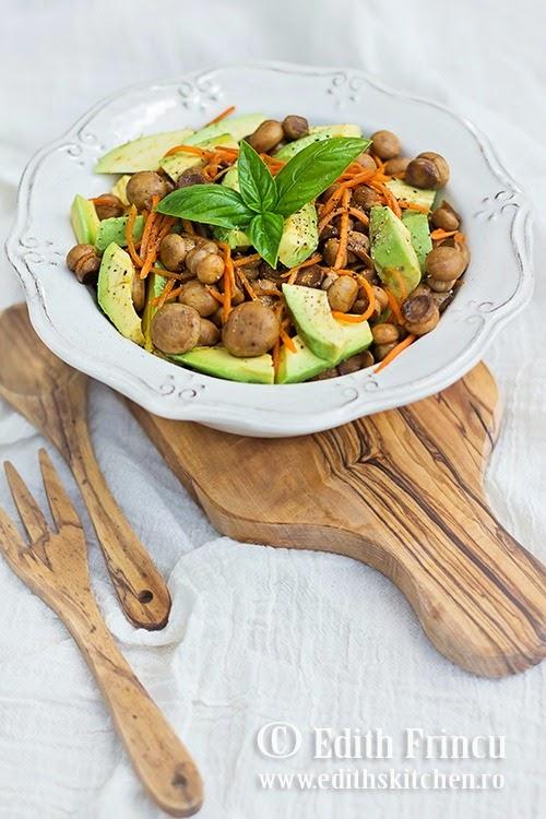 salata de ciuperci cu avocado 1
