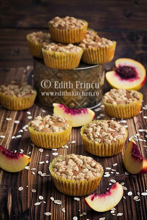 muffins cu piersici 1