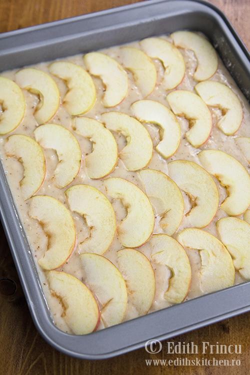 prajitura in tava 2 - Prajitura cu mere si nuci (de post)