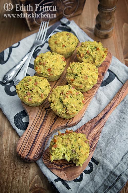 muffins cu quinoa 2 - Muffins aperitiv cu quinoa