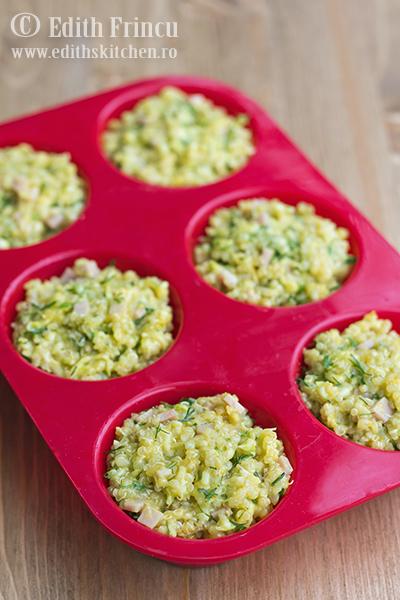 muffins in tava 1 - Muffins aperitiv cu quinoa