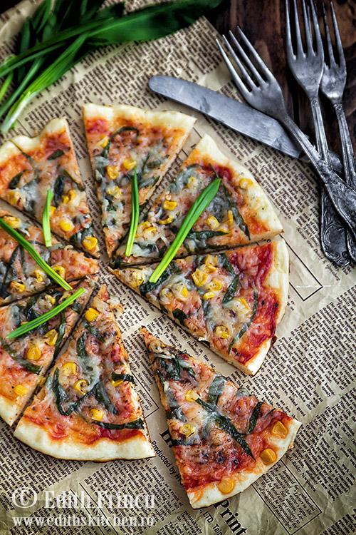 pizza la tigaie cu leurda SunFood 1 1 - Pizza la tigaie cu leurda