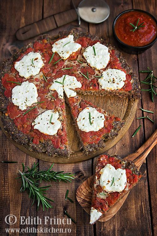 pizza cu blat de carne Sun Food 2 - Pizza cu blat de carne