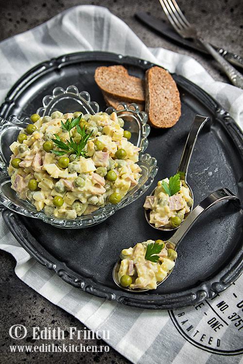 salata de oua cu sunca si mazare Sun Food 2 - Salata de oua cu mazare si sunca