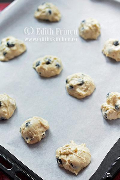 biscuiti in tava - Biscuiti cu afine