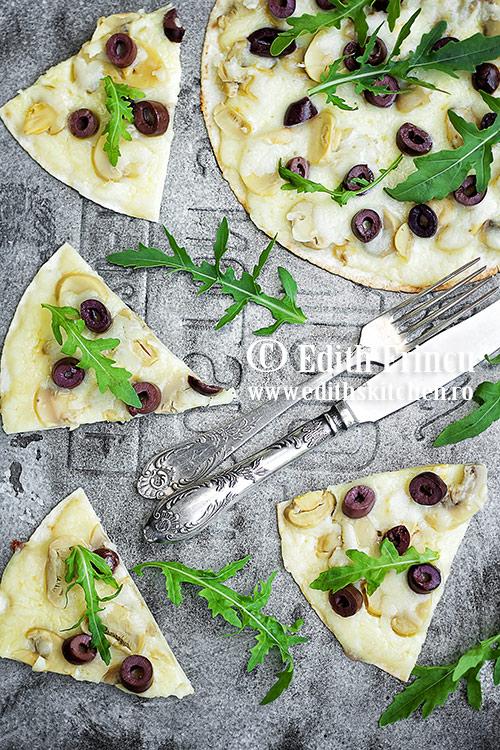 pizza rapida cu ciuperci SunFood - Pizza rapida cu ciuperci