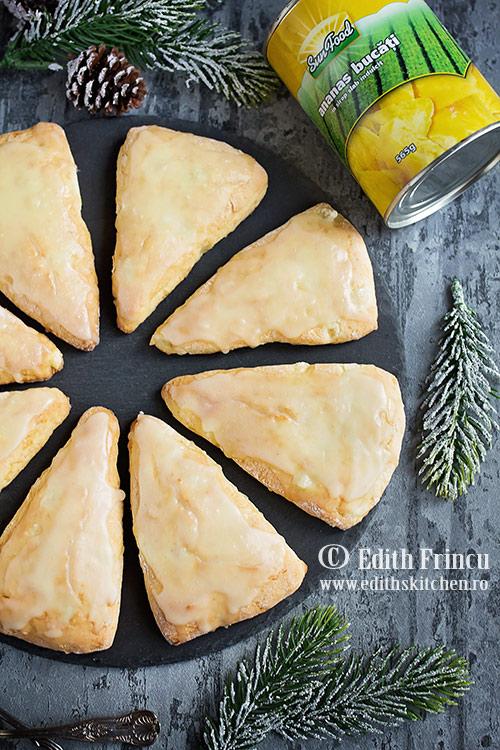 scones cu ananas SunFood - Scones cu ananas