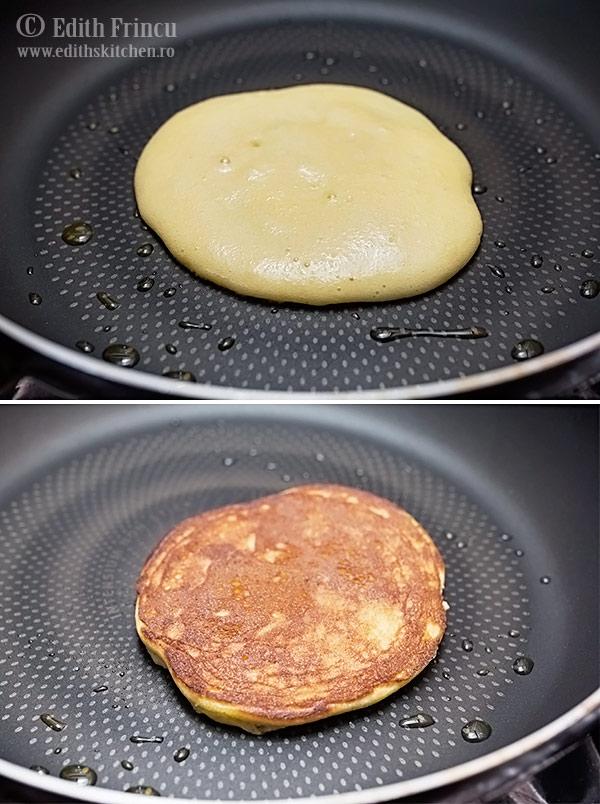 pancakes in tigaie - Pancakes cu cocos