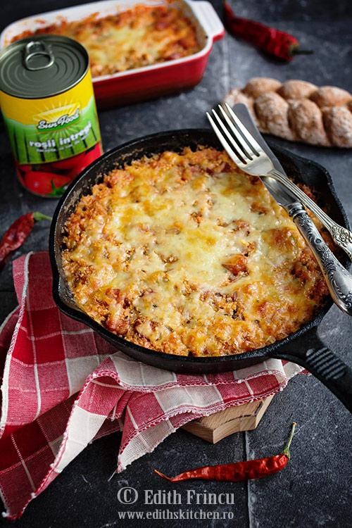 conopida picanta gratinata 1 - Conopida picanta cu mozzarella