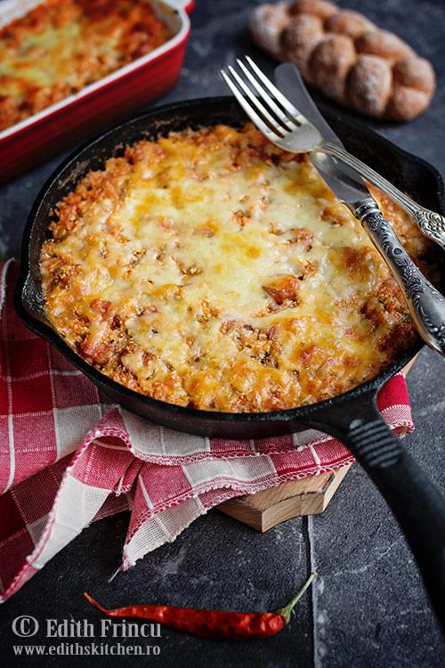 conopida picanta gratinata 2 - Conopida picanta cu mozzarella