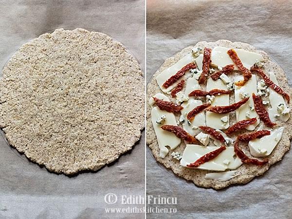 pizza in tava - Pizza cu rosii uscate si branza