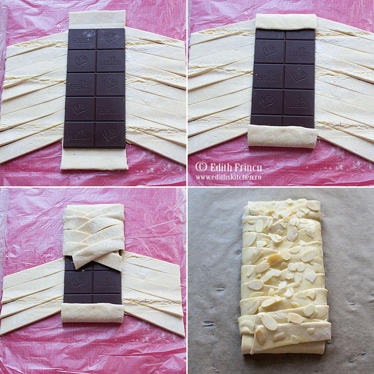 etape strudel cu ciocolata - Strudel cu ciocolata