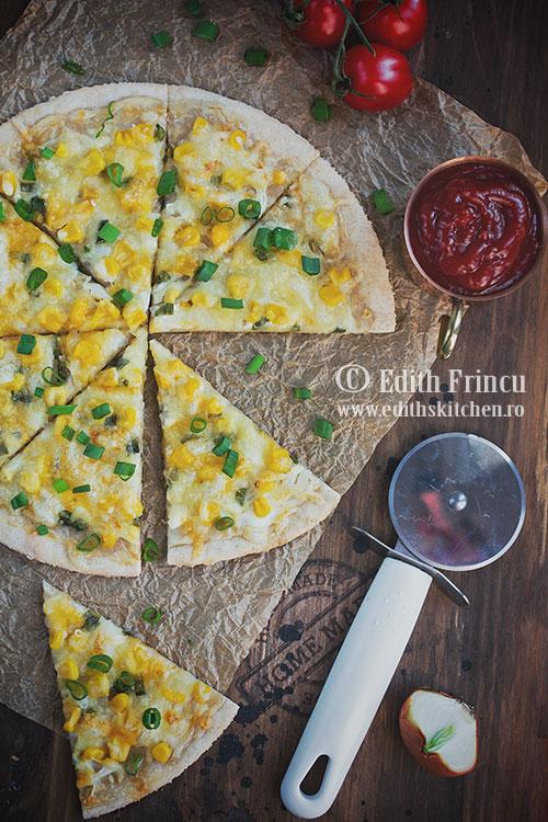 pizza cu porumb si ceapa - Pizza cu porumb si ceapa