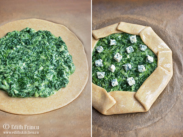 preparare galette cu spanac - Galette cu spanac si trei feluri de branza