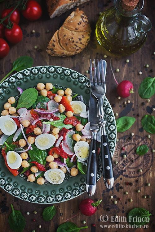salata cu ardei copt si naut - Salata cu ardei copt si naut