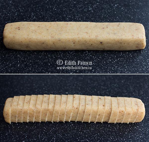aluat biscuiti sarati - Biscuiti sarati cu nuca si parmezan