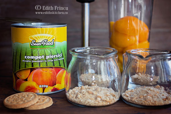 ingrediente mousse de piersici - Mousse de cocos cu piersici