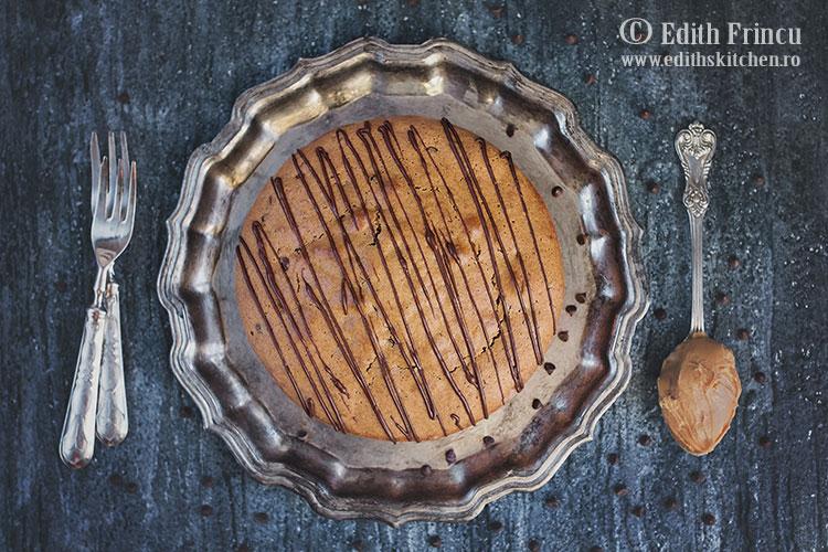 prajitura cu unt de arahide 1 - Prajitura cu unt de arahide si ciocolata