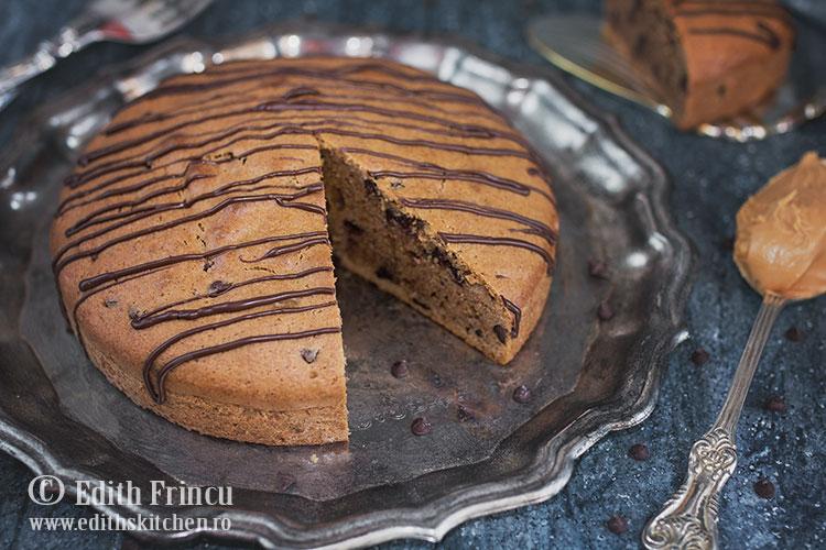 prajitura cu unt de arahide 3 - Prajitura cu unt de arahide si ciocolata