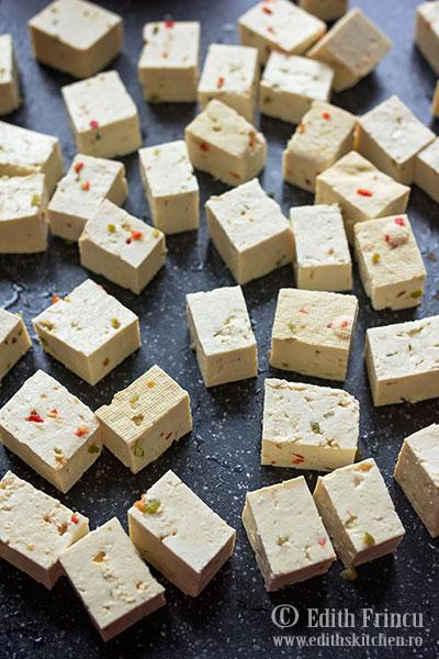 tofu cubulete - Tofu pane la cuptor