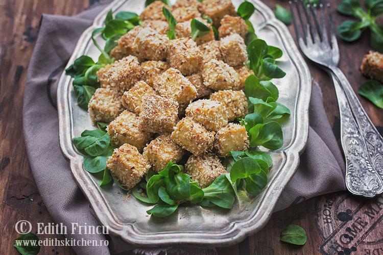 tofu pane 1 - Tofu pane la cuptor