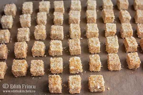 tofu pane in tava - Tofu pane la cuptor