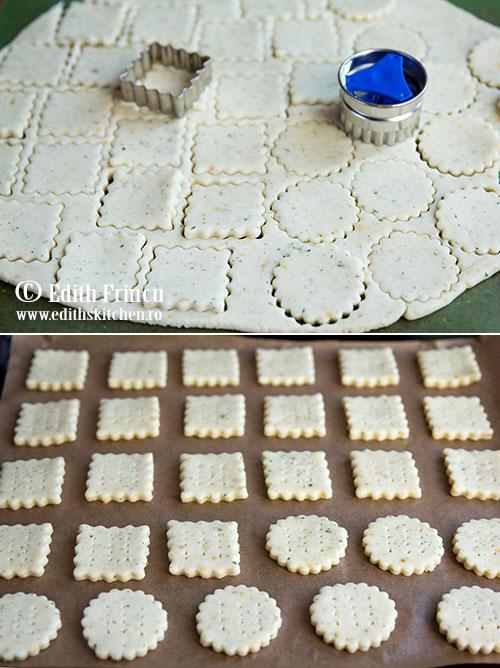 cracjers cu parmezan aluat - Crackers cu parmezan si pate de ton