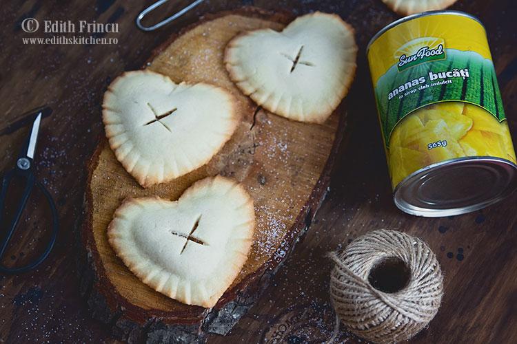 biscuiti cu ananas caramelizat 4 - Biscuiti cu ananas caramelizat