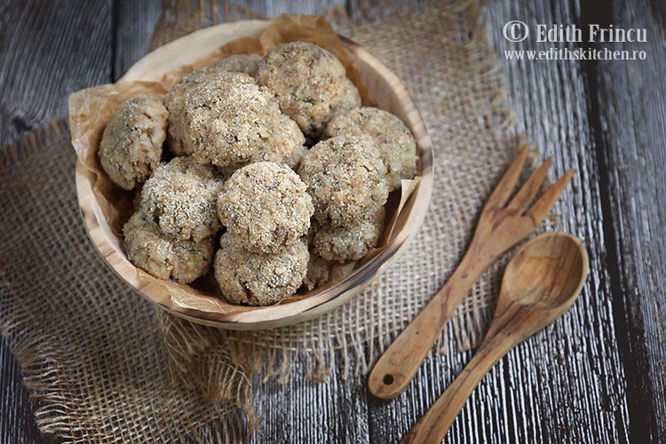 chiftelute de ciuperci cu orez 2 - Chiftelute de ciuperci cu orez