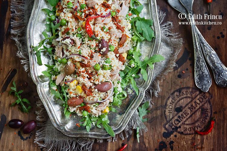 Salata cu cous cous 1 - Salata cu ton si cous cous